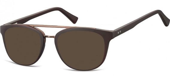 SFE-10542 sunglasses in Dark Clear Brown