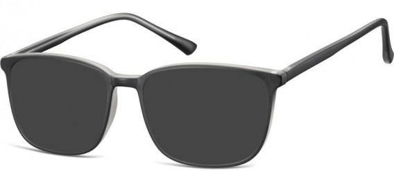 SFE-10536 sunglasses in Black/Clear