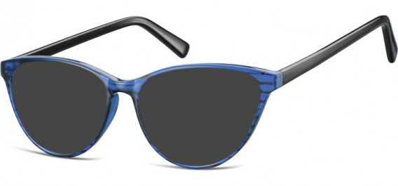 SFE-10535 sunglasses in Clear Blue/Black
