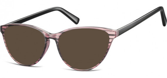 SFE-10535 sunglasses in Clear Pink/Black