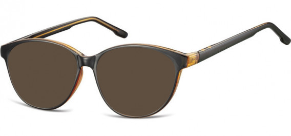 SFE-10534 sunglasses in Black/Brown