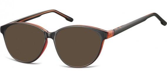 SFE-10534 sunglasses in Black/Red