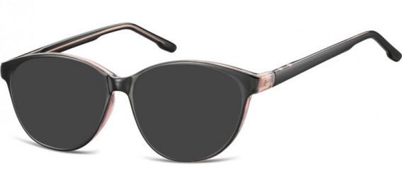 SFE-10534 sunglasses in Black/Light Pink