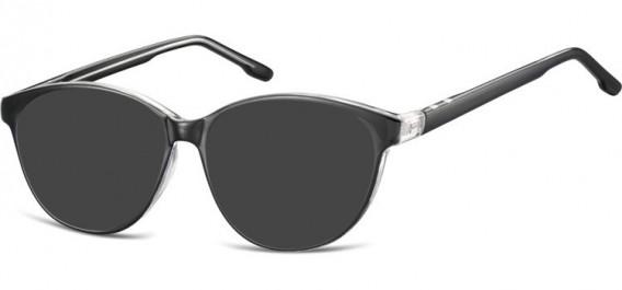 SFE-10534 sunglasses in Black/Transparent