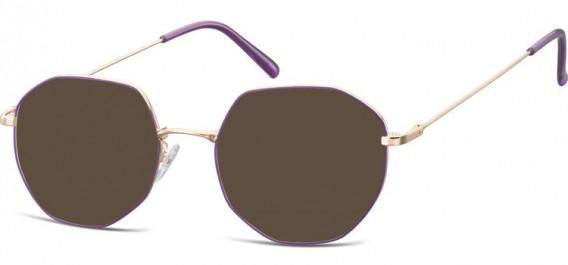 SFE-10530 sunglasses in Pink Gold/Purple