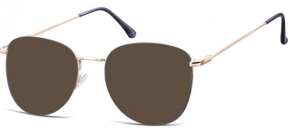 SFE-10529 sunglasses in Pink Gold/Blue