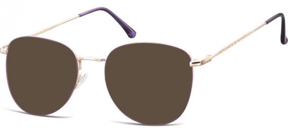 SFE-10529 sunglasses in Pink Gold/Purple