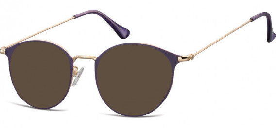 SFE-10528 sunglasses in Pink Gold/Purple