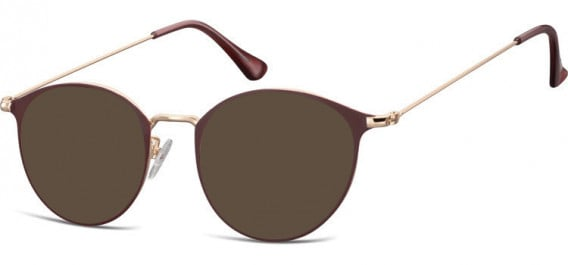 SFE-10528 sunglasses in Pink Gold/Red
