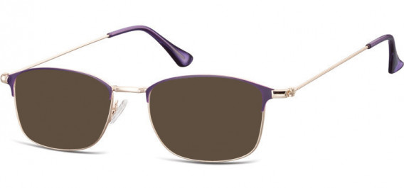 SFE-10526 sunglasses in Pink Gold/Purple