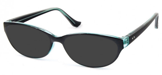 SFE-10579 sunglasses in Black/Clear Blue