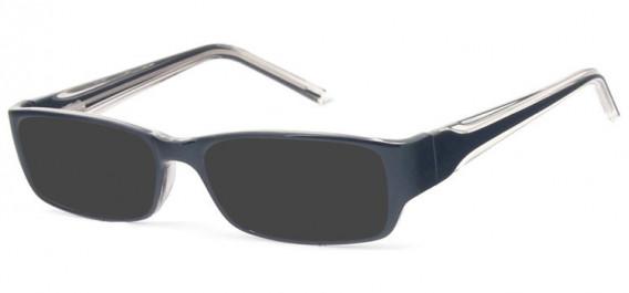SFE-10578 sunglasses in Black/Clear Grey