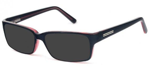 SFE-10576 sunglasses in Black/Burgundy