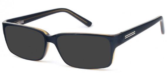 SFE-10576 sunglasses in Black/Olive