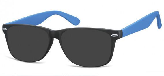 SFE-10569 sunglasses in Matt Black/Blue