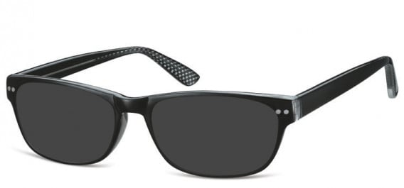 SFE-10567 sunglasses in Black/Clear