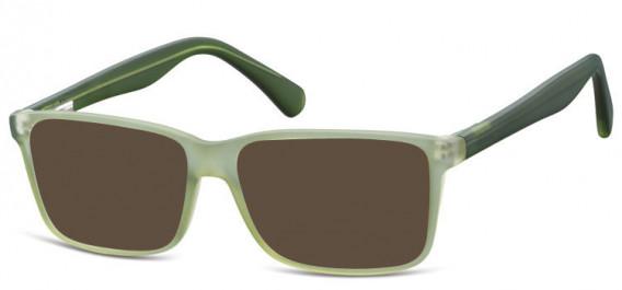 SFE-10565 sunglasses in Matt Clear Green