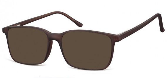 SFE-10564 sunglasses in Matt Dark Brown
