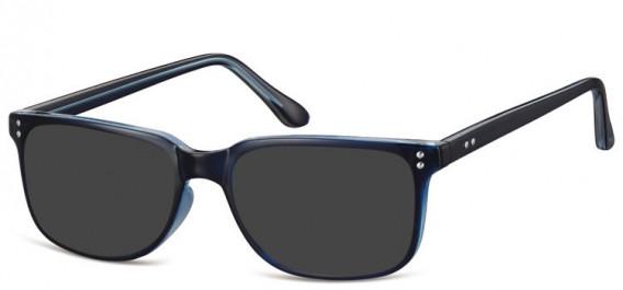 SFE-10563 sunglasses in Dark Blue/Clear
