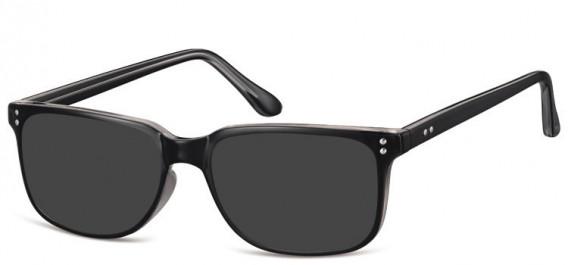 SFE-10563 sunglasses in Black/Clear