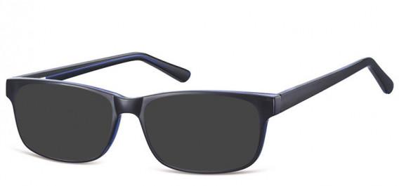 SFE-10558 sunglasses in Black/Blue