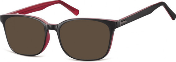 SFE-10555 sunglasses in Black/Rose