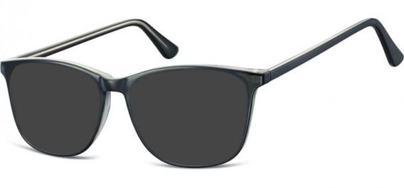 SFE-10547 sunglasses in Black/Clear