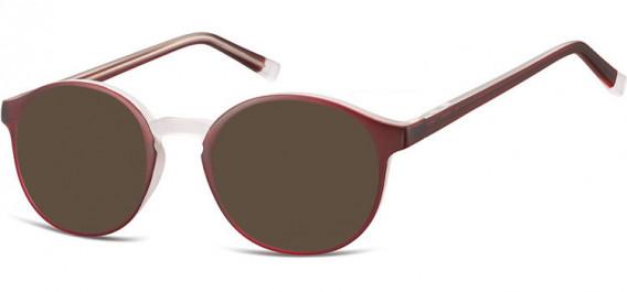 SFE-10544 sunglasses in Burgundy/Transparent
