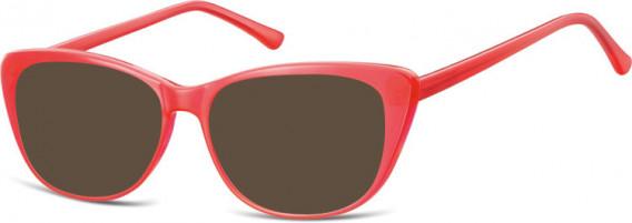 SFE-10537 sunglasses in Milky Red