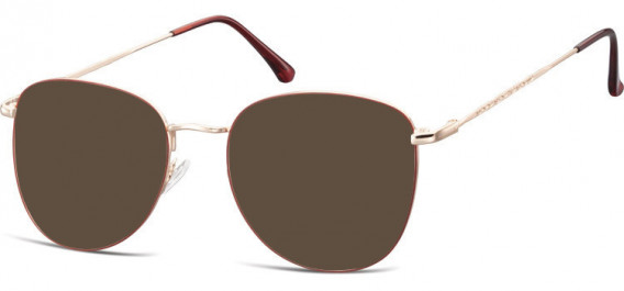 SFE-10529 sunglasses in Pink Gold/Red