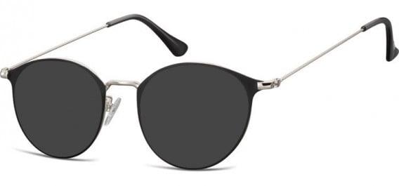 SFE-10528 sunglasses in Silver/Black