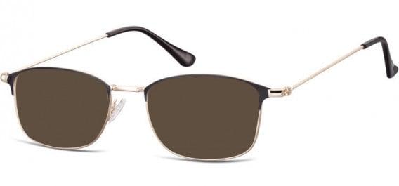 SFE-10526 sunglasses in Pink Gold/Black