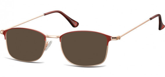 SFE-10526 sunglasses in Pink Gold/Red