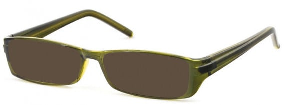 SFE-10581 sunglasses in Clear Olive
