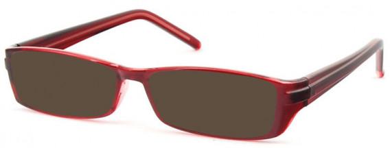 SFE-10581 sunglasses in Clear Burgundy
