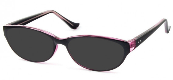 SFE-10579 sunglasses in Black/Clear Pink