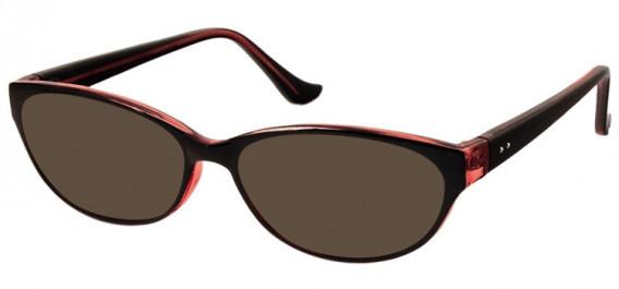 SFE-10579 sunglasses in Black/Clear Burgundy