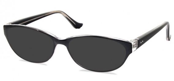 SFE-10579 sunglasses in Black/Clear