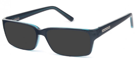 SFE-10576 sunglasses in Black/Blue