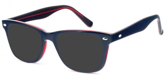 SFE-10574 sunglasses in Black/Burgundy