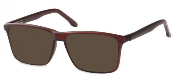 SFE-10571 sunglasses in Matt Dark Brown