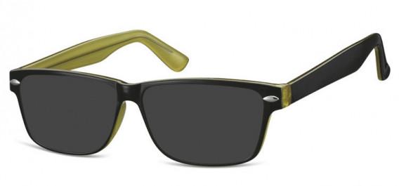 SFE-10568 sunglasses in Black/Green