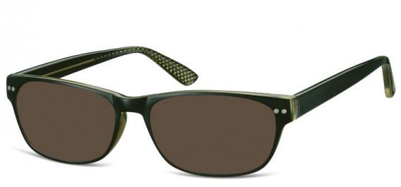 SFE-10567 sunglasses in Black/Green
