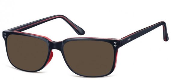 SFE-10563 sunglasses in Black/Clear Burgundy