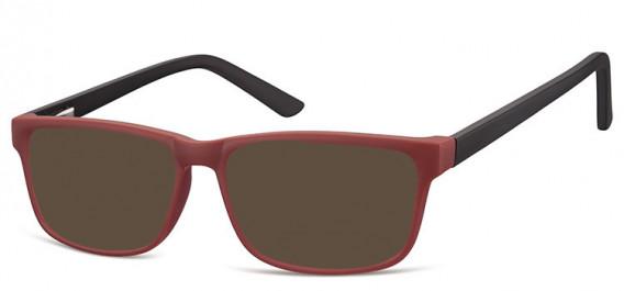 SFE-10561 sunglasses in Burgundy/Black