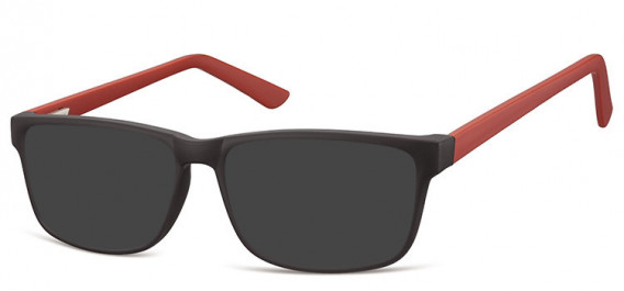 SFE-10561 sunglasses in Black/Burgundy