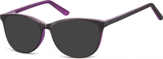 SFE-10556 sunglasses in Dark Purple/Light Purple