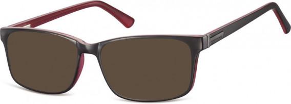 SFE-10554 sunglasses in Black/Rose