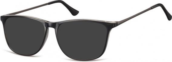 SFE-10548 sunglasses in Black/Clear