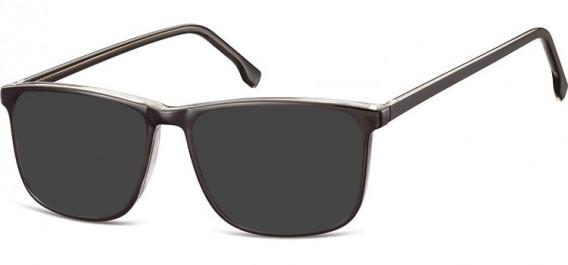 SFE-10539 sunglasses in Black/Clear